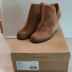 Lucky Brand yimme honey oil suede boots